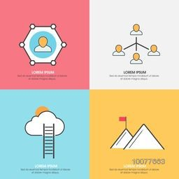 Creative Business Infographic layout for network and communications concept.