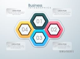 Creative Business Infographic layout with colorful elements for your professional reports and presentation.
