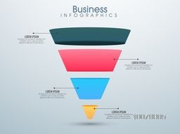 Creative Business Infographic layout with colorful 3D element in triangle shape.