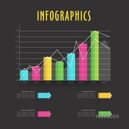 Creative infographic elements including statistical bars showing year wise growth of your Company or Business.