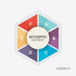 Creative colorful infographic elements in hexagon shape for your Business.