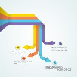 Colorful arrow infographic elements for your business reports and presentation.