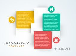 Stylish infographic user interface with functions and details for business presentation.