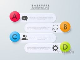 Creative business infographics layouts with different icons, can be used as bookmark and labels.
