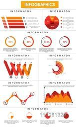 Stylish business infographics template with various elements for corporate purpose.