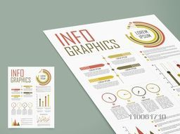 Stylish business infographics template layout with different graphs to show your data.