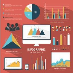 Big set of creative infographic elements for your business reports and presentation.