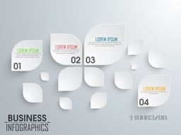 Stylish business infographic elements in leaf shape for your print, presentation and business.