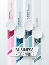 Creative business infographic layout with numbers for your print, presentation and business.