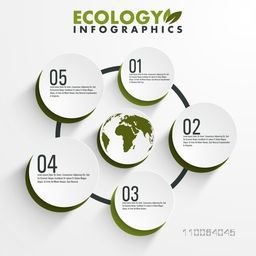 Creative ecology infographic elements for your print, presentation and publication.