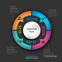 Creative colorful statistical graph for your Business reports and financial data presentation.