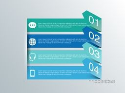 Creative infographic arrows for your Business reports and presentation.