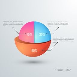 Creative statistical infographic elements for your Business reports and presentation.