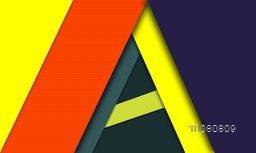 Colorful Material Design Background, Modern Digital Design. Material Design Concept.