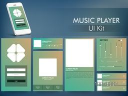 Creative Music Player User Interface Screens for Smartphone.