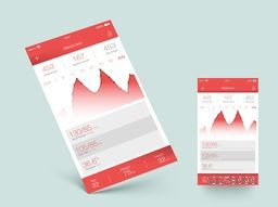 Creative Web User Interface screens for Health and Fitness Mobile Application.