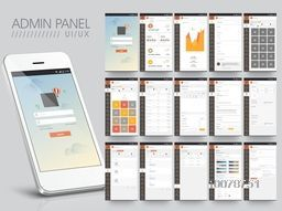 Creative Admin Panel User Interface layout with Smartphone presentation.