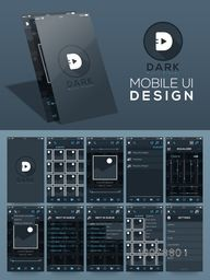 Mobile User Interface kit with different screens of Music Player.