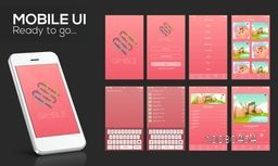 Material Design UI, UX Screens, flat web icons for musical mobile apps, responsive websites with Welcome Screens, Music-track Screens, Setting Screens, Thumbnail Preview Screens