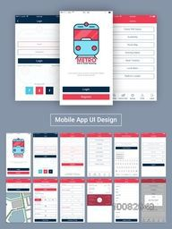 Online Tickets Booking Mobile Apps Material Design, UI, UX and GUI template with Login, Home, Register, Check PNR Status, Availability, Route Map, Book Tickets, Add Details, Cancel Ticket, Profile and Log Out Screens.