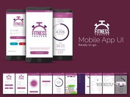 Fitness Tracker Mobile App Material Design, UI, UX and GUI kit including Sign In, Get Started, Home, Sign Up, Connect Device, Select Activity, Profile, Setting and Sign Out Screens.