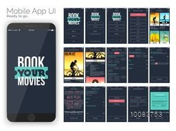 Material Design UI, UX and GUI for Online Movie Booking Mobile Apps with Sign In, Sign Up, Select Location, Movie Details, Booking, Select Date and Time, Show Time, Choose Seat, Payment Option, Debit Card Payment and Booking Confirmation Screens.