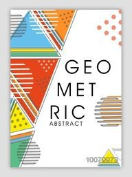 Stylish Business Flyer, Banner, Pamphlet or Brochure with creative geometric abstract design.
