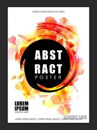 Stylish Flyer, Banner, Template or Brochure with colorful Abstract design for your Business.