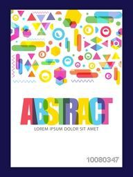 Colorful creative Abstract design decorated Flyer, Banner or Pamphlet for your Business.
