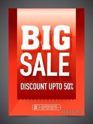 Big Sale Flyer, Banner or Pamphlet with 50% discount offer.