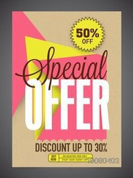 Special Offer Sale Flyer, Banner or Pamphlet with different discount offer.