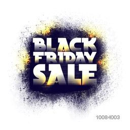 Glossy Text Black Friday Sale on abstract splash, Creative Poster, Banner or Flyer design, Vector illustration.