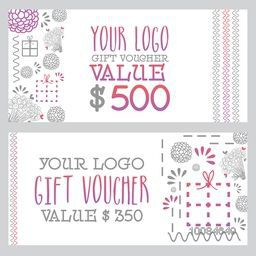 Creative Gift Voucher, Coupon or Certificate template layout with modern abstract floral design, Vector illustration.