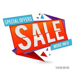 Special Offer Sale Paper Tag, Banner, Poster or Flyer design on white background, Creative vector illustration.
