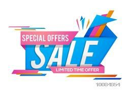 Special Offer Sale Paper Tag or Banner design on white background, Creative vector illustration.