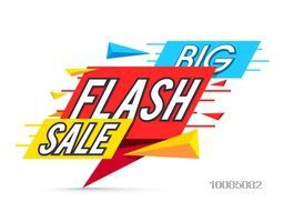 Big Flash Sale Poster, Banner or Flyer layout, Creative Paper Tag design, Vector illustration.