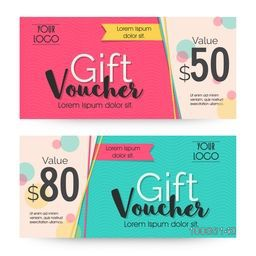 Creative Gift Voucher or Coupon template with clean and modern design.