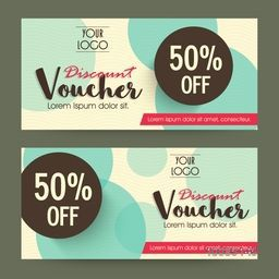 Creative Gift or Discount Voucher, Coupon template layout with abstract design decoration.