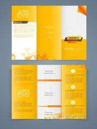 Creative Business Trifold Brochure, Template or Flyer design with free space for your images and content.