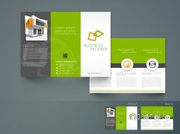 Professional trifold brochure, catalog and flyer template for architecture business purpose.