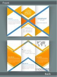 Stylish Tri Fold business flyer, template or brochure design with both page presentation for your corporate need.