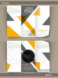 Tri Fold flyer, template or brochure design with proper place holders for your business content.