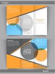 Colorful Tri Fold flyer, template or brochure design with place holder, Including front and back side presentation.