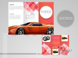 Professional trifold brochure, flyer or catalog for automobile sector.