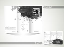 Creative abstract Trifold Brochure, Template or Flyer design with front and back page presentation for your Business.