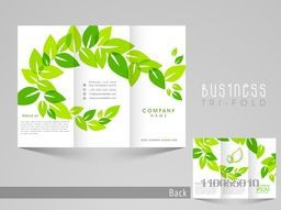 Professional trifold brochure, catalog or flyer template for business purpose.