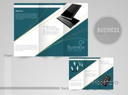 Professional three fold flyer, template or corporate brochure for business purpose, can be use as presentation.