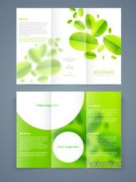 Stylish save nature tri-fold, brochure, template or flyer with front and back page presentation.