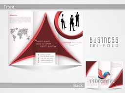 Corporate Tri Fold business flyer, template or brochure design with place holder for your professional content.