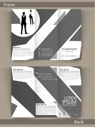Corporate Tri Fold flyer, brochure or template design with place holder for your professional content.